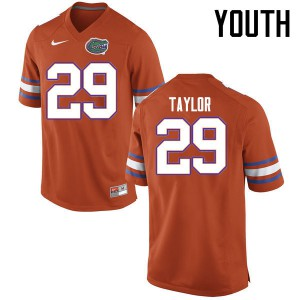 Youth Florida Gators #29 Jeawon Taylor College Football Jerseys Orange 123504-130