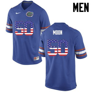 Men Florida Gators #50 Jeremiah Moon College Football USA Flag Fashion Blue 274513-129