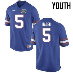 Youth Florida Gators #5 Joe Haden College Football Jerseys Blue 588927-492