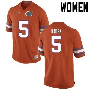 Women Florida Gators #5 Joe Haden College Football Jerseys Orange 451600-271