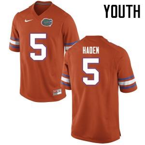 Youth Florida Gators #5 Joe Haden College Football Jerseys Orange 637764-609