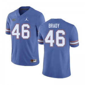 Jordan Brand Men #46 John Brady Florida Gators College Football Jerseys Blue 593543-986