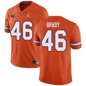 Jordan Brand Men #46 John Brady Florida Gators College Football Jerseys Orange 537297-506