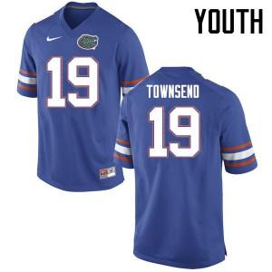 Youth Florida Gators #19 Johnny Townsend College Football Jerseys Blue 670446-667
