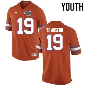 Youth Florida Gators #19 Johnny Townsend College Football Jerseys Orange 441110-325