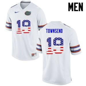 Men Florida Gators #19 Johnny Townsend College Football USA Flag Fashion White 343299-160