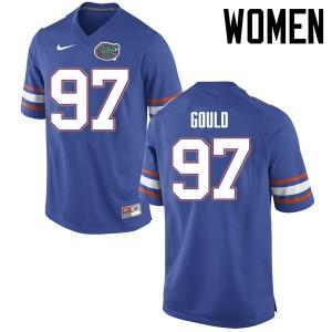 Women Florida Gators #97 Jon Gould College Football Jerseys Blue 653653-558
