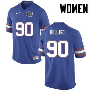 Women Florida Gators #90 Jonathan Bullard College Football Blue 810968-171