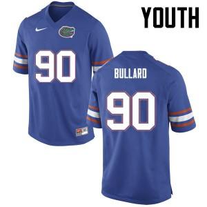 Youth Florida Gators #90 Jonathan Bullard College Football Blue 535032-537