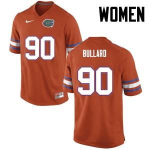 Women Florida Gators #90 Jonathan Bullard College Football Orange 942605-722