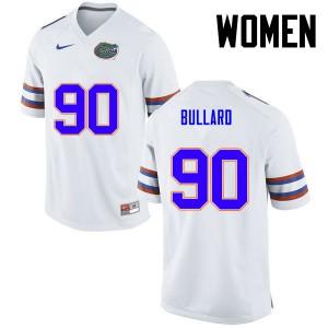 Women Florida Gators #90 Jonathan Bullard College Football White 673814-331
