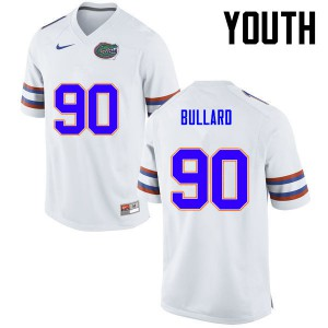 Youth Florida Gators #90 Jonathan Bullard College Football White 839945-653