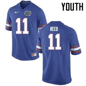Youth Florida Gators #11 Jordan Reed College Football Jerseys Blue 507571-541