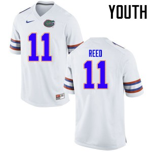 Youth Florida Gators #11 Jordan Reed College Football Jerseys White 792756-389