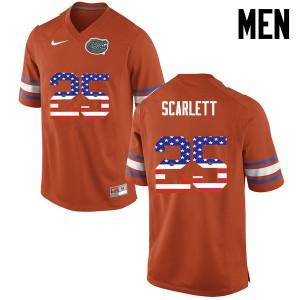 Men Florida Gators #25 Jordan Scarlett College Football USA Flag Fashion Orange 406507-325