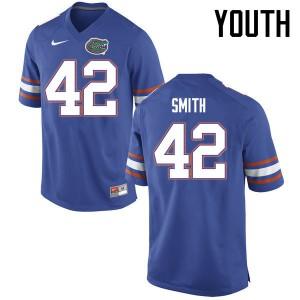 Youth Florida Gators #42 Jordan Smith College Football Jerseys Blue 948316-427