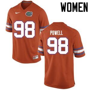 Women Florida Gators #98 Jorge Powell College Football Jerseys Orange 650952-538