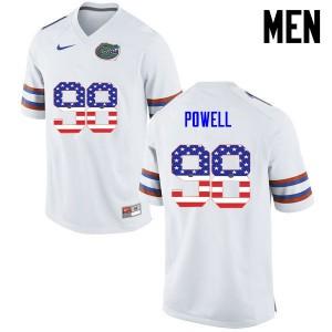 Men Florida Gators #98 Jorge Powell College Football USA Flag Fashion White 225959-321