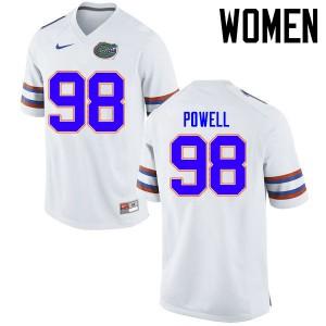 Women Florida Gators #98 Jorge Powell College Football Jerseys White 680747-579