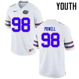 Youth Florida Gators #98 Jorge Powell College Football Jerseys White 557548-831