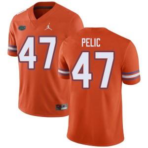 Jordan Brand Men #47 Justin Pelic Florida Gators College Football Jerseys Orange 940371-395