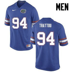 Men Florida Gators #94 Justin Trattou College Football Blue 340145-158