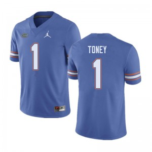 Jordan Brand Men #1 Kadarius Toney Florida Gators College Football Jerseys Blue 635842-984