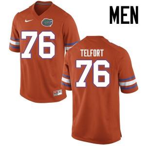 Men Florida Gators #76 Kadeem Telfort College Football Jerseys Orange 266217-647
