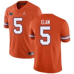 Jordan Brand Men #5 Kaiir Elam Florida Gators College Football Jerseys Orange 123990-441