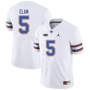 Jordan Brand Men #5 Kaiir Elam Florida Gators College Football Jerseys White 271834-591