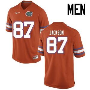 Men Florida Gators #87 Kalif Jackson College Football Jerseys Orange 122411-227