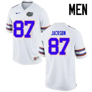 Men Florida Gators #87 Kalif Jackson College Football Jerseys White 792924-133