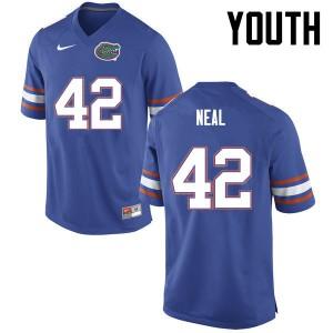 Youth Florida Gators #42 Keanu Neal College Football Blue 983286-472