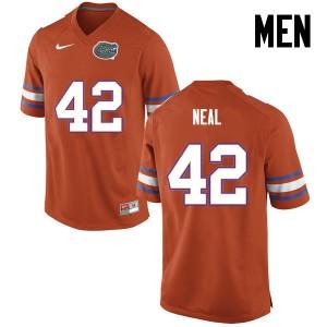 Men Florida Gators #42 Keanu Neal College Football Orange 233659-448