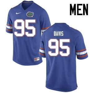 Men Florida Gators #95 Keivonnis Davis College Football Jerseys Blue 748518-156