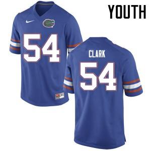 Youth Florida Gators #54 Khairi Clark College Football Jerseys Blue 199301-621