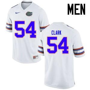 Men Florida Gators #54 Khairi Clark College Football Jerseys White 566565-725