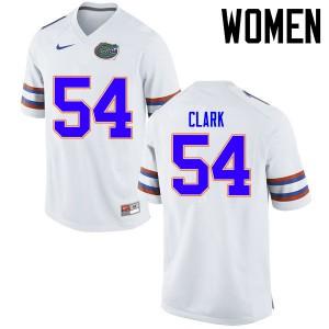 Women Florida Gators #54 Khairi Clark College Football Jerseys White 565925-717