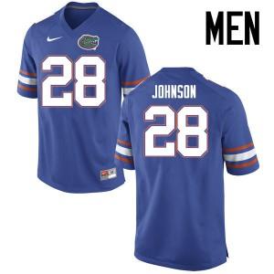 Men Florida Gators #28 Kylan Johnson College Football Jerseys Blue 563584-534