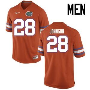 Men Florida Gators #28 Kylan Johnson College Football Jerseys Orange 984787-951