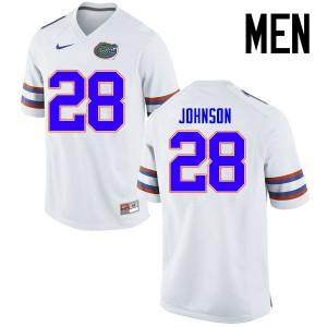 Men Florida Gators #28 Kylan Johnson College Football Jerseys White 496678-977