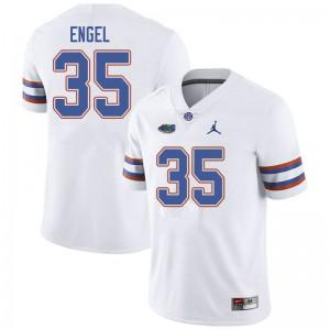 Jordan Brand Men #35 Kyle Engel Florida Gators College Football Jerseys White 955904-811
