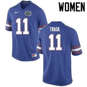 Women Florida Gators #11 Kyle Trask College Football Jerseys Blue 663742-189