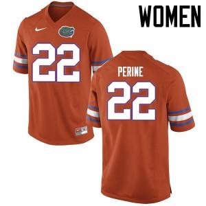 Women Florida Gators #22 Lamical Perine College Football Jerseys Orange 975966-717