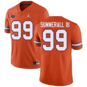 Jordan Brand Men #99 Lloyd Summerall III Florida Gators College Football Jerseys Orange 184479-320