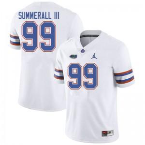Jordan Brand Men #99 Lloyd Summerall III Florida Gators College Football Jerseys White 116696-828
