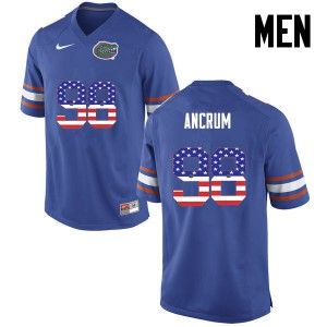 Men Florida Gators #98 Luke Ancrum College Football USA Flag Fashion Blue 832719-220