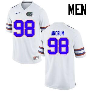 Men Florida Gators #98 Luke Ancrum College Football Jerseys White 617845-535