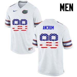 Men Florida Gators #98 Luke Ancrum College Football USA Flag Fashion White 864178-643