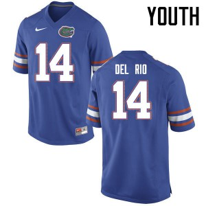 Youth Florida Gators #14 Luke Del Rio College Football Jerseys Blue 496175-125